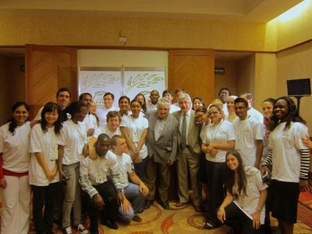 GCARD2 social reporters with Uruguayan President