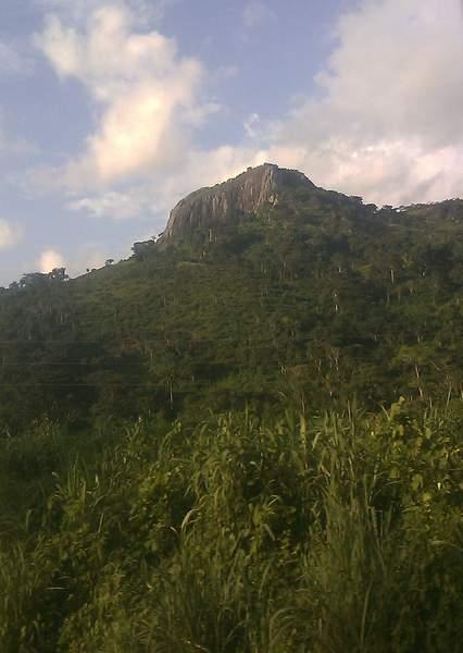 Les montagnes à l'ouest de la Cote d'ivoire