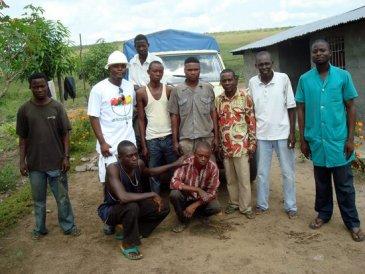 Luabu Farm team posing with Sean Intiomale after inspection