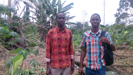 Myself ( right ) with farm manager