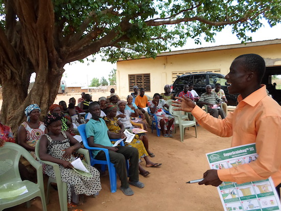 TRAINING ADAWSO FARMERS USING ILLUSTRATIONS