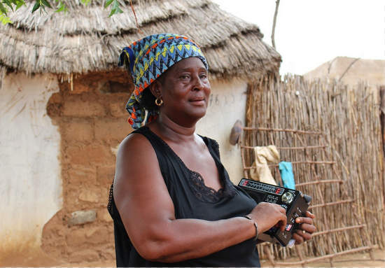 Partnering with local radio stations helped scale out climate information services in Kaffrine, Senegal. (Photo: V. Meadu - CCAFS)