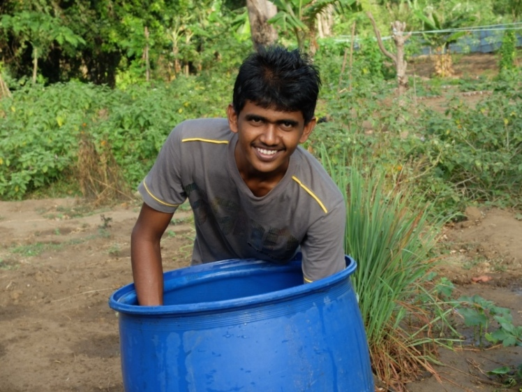 Young Farmer in Sri Lanka.