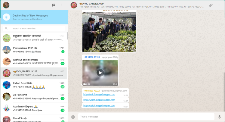 WhatsApp in Agriculture?