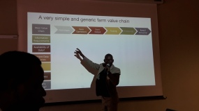 Geoffrey Wandera giving his views on data availability and gaps throughout the value chain