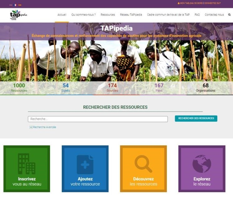 Sharing Knowledge on Capacity Development for Agricultural Innovation through TAPipedia