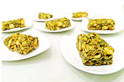 Moringa and Bambara groundnut granola bar